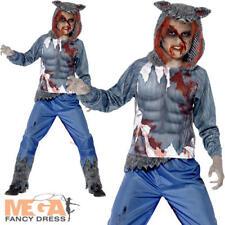 Deluxe Wolf GUERRIERO Ragazzi Costume Halloween Lupo Mannaro Animale Costume Da Bambino Kid