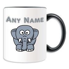 Personalised Gift Silly Elephant Mug Money Box Customise Name Tea Coffee Cup Boy