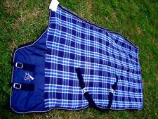 Horse Cotton Sheet Blanket Rug Summer Spring Navy Turquoise 5312