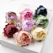 10Pcs Silk Peony Rose Flower Heads Bridal Wedding Bouquet Home Office Decors
