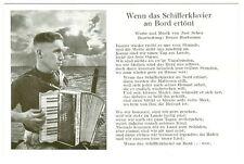 """Liedkarten, Soldatenlieder, """"Wenn das Schifferklavier"""""""