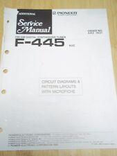 Pioneer Service Manual~F-445 Tuner~Original~Repair~w/fiche