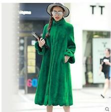 Korea Long Fur Coat Women's Chic Loose Thicken Overcoat Parka Plus SZ S-9XL R86
