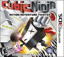 Cubic Ninja Nintendo 3DS Ubisoft rare action adventure puzzle game retro USED