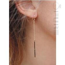PAIR Women's Gold/Sterling Silver Plated Chain Long Dangle Drop Hook Earrings
