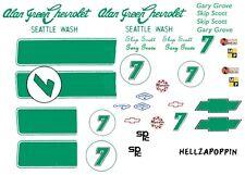 #7 Skip Scott 1968-69 Camaro Alan Green Chevrolet 1/32 Slot Car Decals