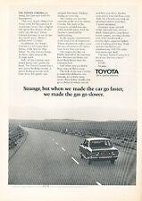 1972 Toyota Corona - Classic Vintage Advertisement Ad A92-B
