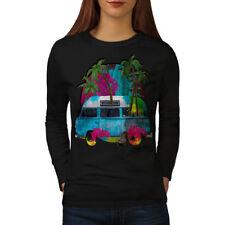 Hippie Car Summer Fashion Women Long Sleeve T-shirt NEW | Wellcoda