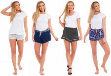 Ladies Womens Pyjama Bed Shorts VISCOSE Night SleepElastane Black Navy Blue Grey