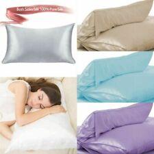 Multicolor Silk Pillowcase 100% Pure Silk Soft Pillowcase Home Accessories