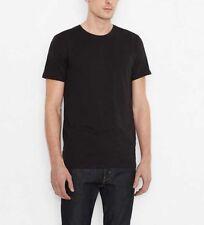 NEW MEN'S XS L XL  LEVI'S SLIM FIT CREW NECK TEES 2 PACK T-SHIRTS BLACK