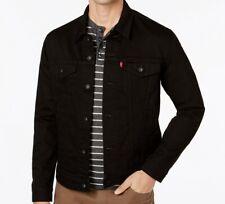 Levis Men's Big & Tall Denim Jacket Trucker - Black - sizes ,,,