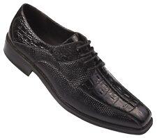 Oxfords Faux Leather Embossed Men's Dress Shoes #5747 Black Size 8.5 - 13