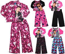Justin Bieber Girls Long Sleeve Long Leg Pant 2 Piece Novelty Pajama Sets