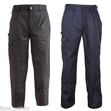 Proforce Drill Combat Cargo Trousers Work Uniform Pants - Black or Navy Blue