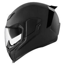Icon Airflite Full Face Motorcycle Motorbike Helmet - Rubatone Matt Black