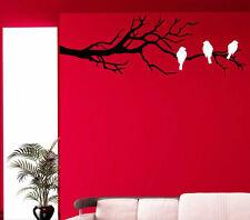 Trois oiseaux sur la branche mur Stickers muraux. Tatoos, wall stickers. beaucoup de couleurs.