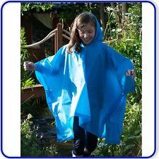 Kids Childs Splash-mac Hooded Poncho Rain Coat Groundsheet Festival Cape