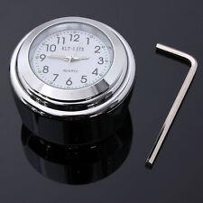 "7/8""-1"" Waterproof Handlebar Bar Mount Clock Chrome For CHOPPER HARLEY"