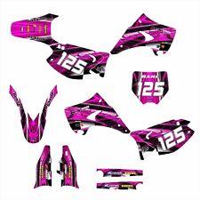 KAWASAKI KX 125 250 Graphics Decal Kit 2003 - 2015 Free Custom #2001 Hot Pink