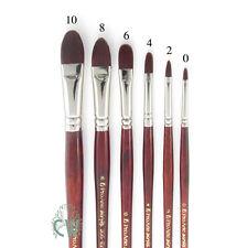 Pro Arte Artists Acrylix Series 205 FILBERT Brushes. Artist Acrylic,Oil Painting