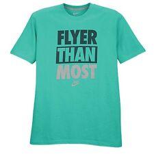 "Nike ""Flyer Than Most"" T-Shirt Atomic Teal Men's Large XL 2XL BNWT FREE SHIPPING"