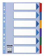 Esselte Ordner Register blanko farbig Karton DIN A4 6 teilig oder 12 teilig