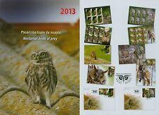 Rumänien 2013 Eulen,Noctural birds of prey Mi.6721-24,KB-Satz,6721-24 FDC