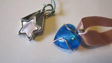 Ciondolo Cuore e stella in argento 925. Silver and Murano glass pendants