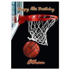 656; Juego De Baloncesto; tarjeta de felicitación personalizada; grandes A5; mejor Especial Gran
