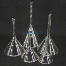 40-120mm Miniature Lab Glass Funnel Borosilicate Glassware Triangle Funnel