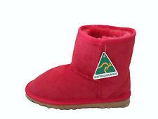 Australian Made Genuine Sheepskin Kids Mini UGG Boots Red Colour Multi Size