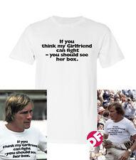 T-Shirt James Hunt – se pensi che la mia fidanzata... vedere la sua scatola vintage Divertente Nuovo