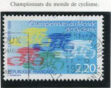 TIMBRE FRANCE OBLITERE N° 2590 CHAMPIONNATS DU MONDE DE CYCLISME