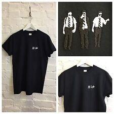 Actual Fact Beastie Boys Sabotage Embroidered Hip Hop Supreme Black Tee T-Shirt