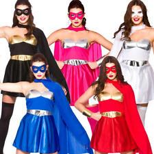 Hot Superheros Ladies Fancy Dress Comic Book Super Hero Womens Adults Costume