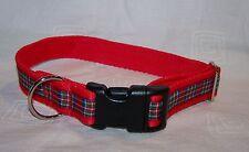 Royal Stewart tartan red dog collar or lead or complete collar & lead set