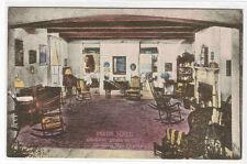 General Lewis Hotel Main Hall Le 00004000 wisburg Wv Albertype handcolored postcard