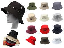 Men's Cotton Canvas Fishing Hunting Bucket Hat Sun Visor Cap Foldable Summer Cap