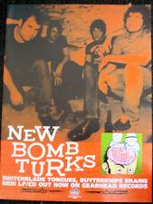 New Bomb Turks Orig 2003 Promo Poster Switchblade Garage Punk Gearhead Records