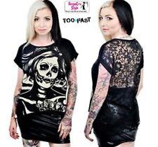 Popular Senorita Skulls Skeleton Nala Punk Rock Ladies Alternative Fashion Top