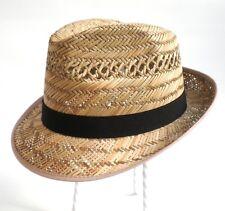 Chapeau de paille pour hommes Récolte Jardin Fête Congé Trilby en gr. 55 - 61