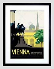 TRAVEL VIENNA AUSTRIA IMPERIAL STATUE SPIRE CHURCH FRAMED ART PRINT B12X6576