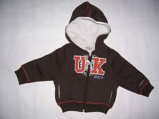 SWEAT Zippé Capuche bébé enfant Umbro 6 ou 12 ou 18 mois - 3 ou 4 ans Chocolat