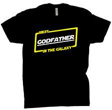 Best Godfather In The Galaxy Shirt Gift Tee T Shirt Black T-Shirt