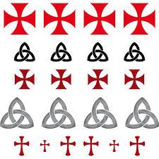 Gothic Celti templare Maurer RUNE SIMBOLI caratteri Adesivo Tattoo Decorazione Pellicola