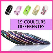 Lot 19 couleurs différentes striping fils autocollant sticker nail art ongles