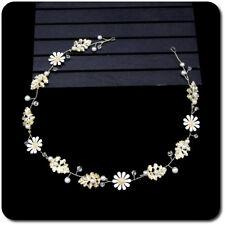 Braut Haarband Haargesteck Tiara Diadem Blume Hochzeit  Metall Flexibel Emaille