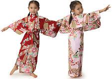 Japanese Kimono Robe Girl's Dress Noshime #YC883 Cotton Unlined