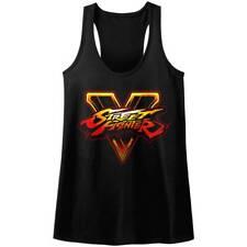 STREET FIGHTER Women's Tank Top BLACK SFV LOGO